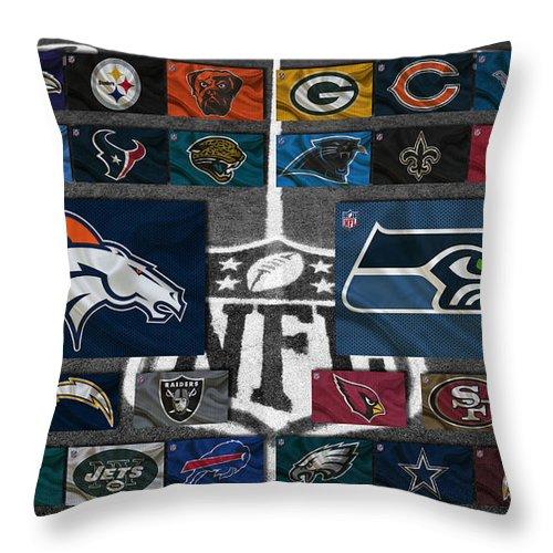 Football Throw Pillow featuring the photograph Nfl Teams by Joe Hamilton