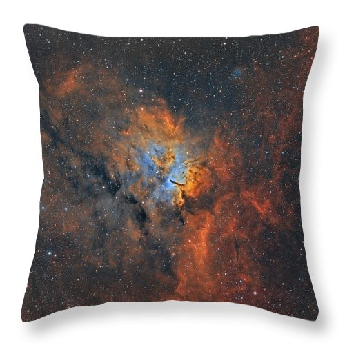Astro Throw Pillow featuring the photograph Ngc6820 - Beauty In Space by Sara Wager