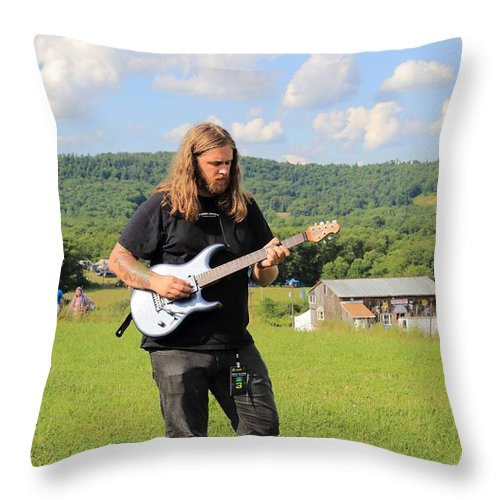 Nick With Luke Rw2k14 Throw Pillow featuring the photograph Nick With Luke Rw2k14 by PJQandFriends Photography