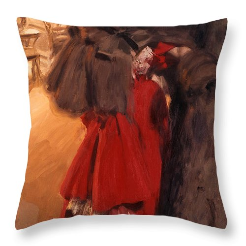 Anders Zorn Throw Pillow featuring the digital art Night Effect by Anders Zorn