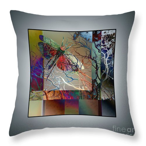 Ursula Freer Throw Pillow featuring the digital art Night Moth by Ursula Freer