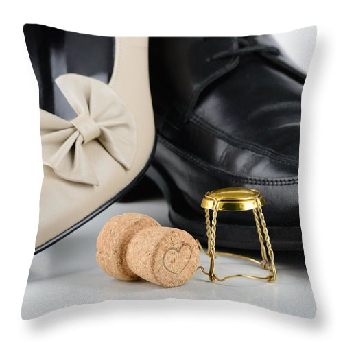 Beautiful Throw Pillow featuring the photograph Night Of Saint Valentine by Alain De Maximy