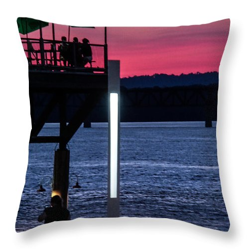 Sunset Throw Pillow featuring the photograph Night Out With Friends by Kevin Jackson