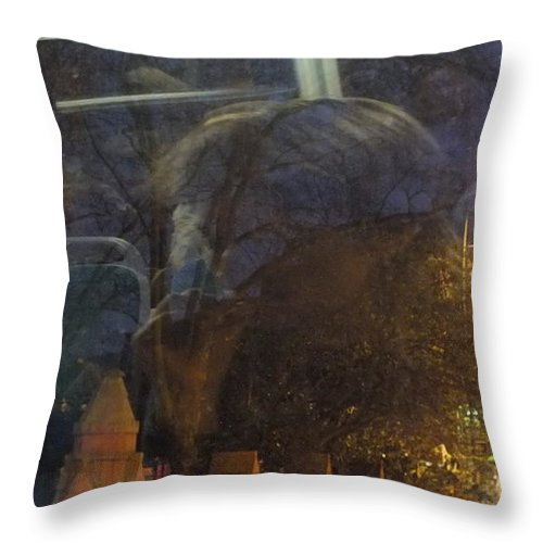London Throw Pillow featuring the photograph Nightbus II by Artist Geoff Francis