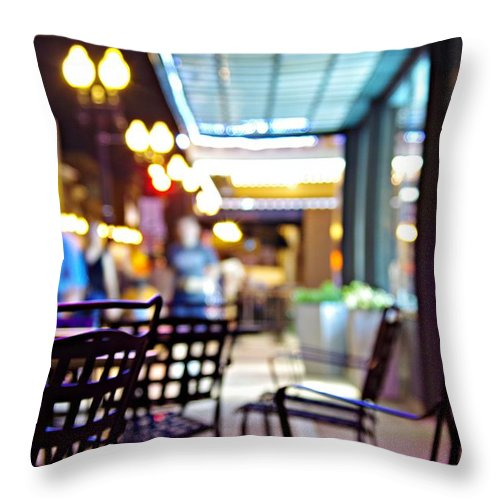 City At Night Throw Pillow featuring the photograph Nightlife by Sharon Popek