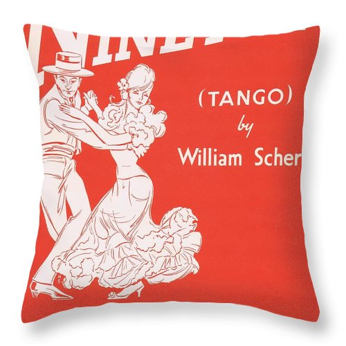 Nostalgia Throw Pillow featuring the photograph Ninetta by Mel Thompson