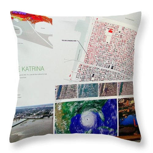 New Orleans Throw Pillow featuring the photograph Ninth Ward Sign by Ed Weidman