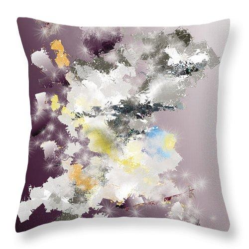 Throw Pillow featuring the digital art No. 1155 by John Grieder