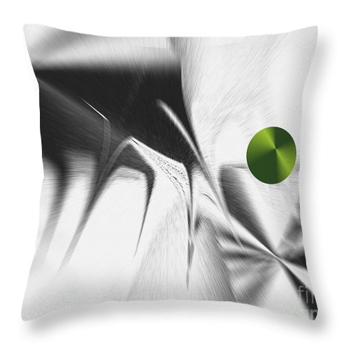 Throw Pillow featuring the digital art No. 803 by John Grieder
