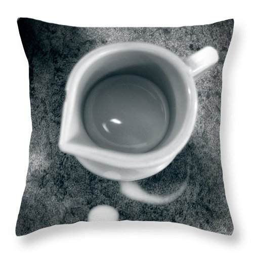 Coffee Throw Pillow featuring the photograph No Cream For My Coffee by Bob Orsillo
