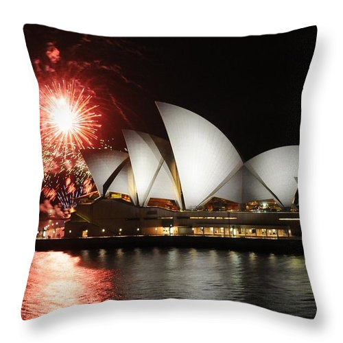 Explosion Throw Pillow featuring the photograph No Its Not New Years Eve by Vivian Christopher