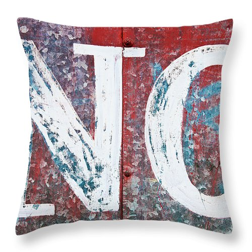 Word Throw Pillow featuring the photograph No by Luis Alvarenga