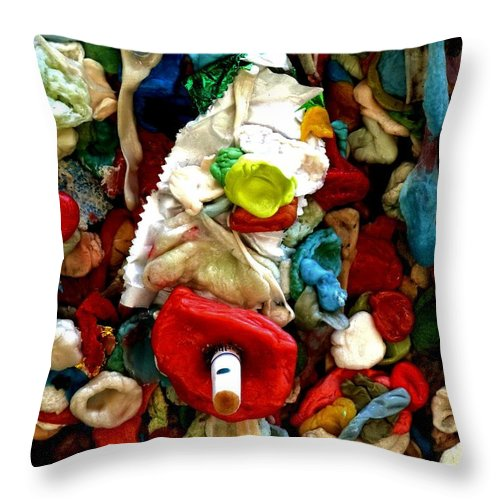 Newel Hunter Throw Pillow featuring the photograph No Smoking by Newel Hunter