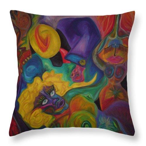Throw Pillow featuring the pastel No Titel by Sitara Bruns