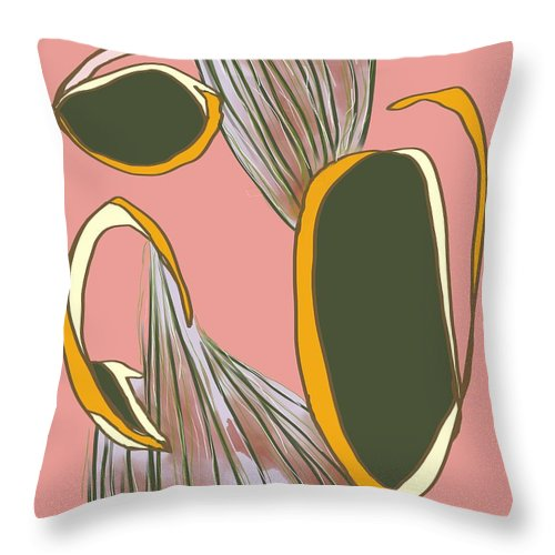 Abstract Throw Pillow featuring the digital art No Waterworks by Laureen Murtha Menzl