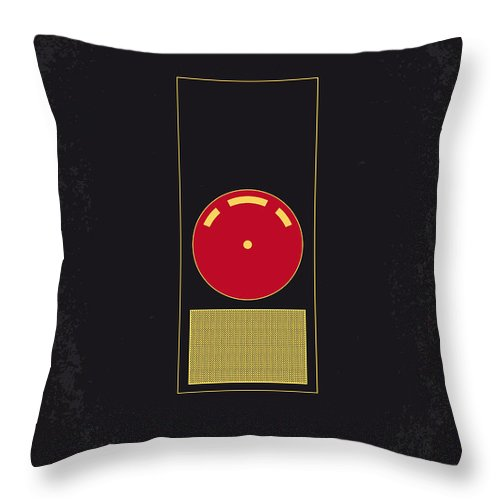 2001: A Space Odyssey Throw Pillow featuring the digital art No003 My 2001 A space odyssey 2000 minimal movie poster by Chungkong Art