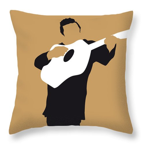 Johnny Throw Pillow featuring the digital art No010 My Johnny Cash Minimal Music Poster by Chungkong Art