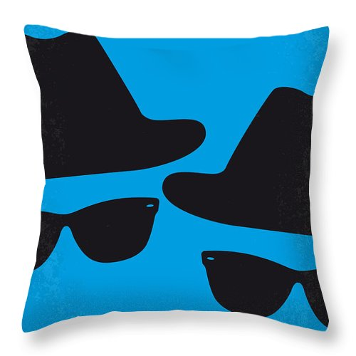 Blues Throw Pillow featuring the digital art No012 My blues brother minimal movie poster by Chungkong Art