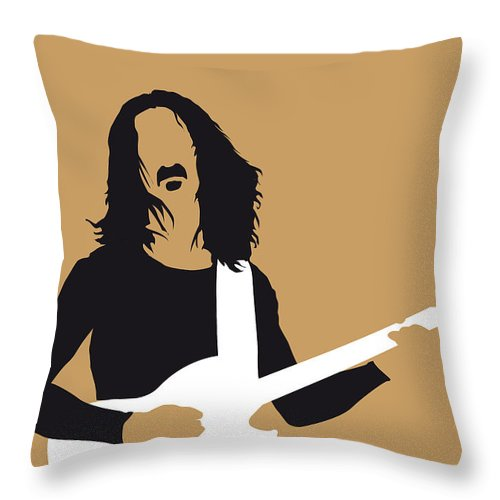 Frank Throw Pillow featuring the digital art No040 My Frank Zappa Minimal Music Poster by Chungkong Art