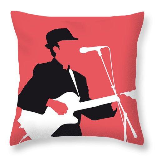 Leonard Throw Pillow featuring the digital art No042 MY LEONARD COHEN Minimal Music by Chungkong Art
