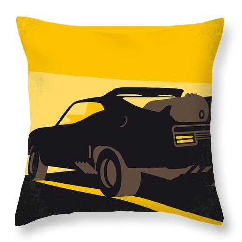 Road Warrior Throw Pillow featuring the digital art No051 My Mad Max 2 Road Warrior Minimal Movie Poster by Chungkong Art