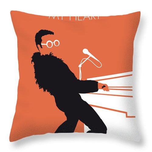 Elton Throw Pillow featuring the digital art No053 My Elton John Minimal Music Poster by Chungkong Art
