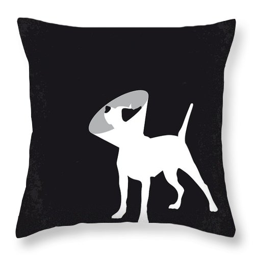 Snatch Throw Pillow featuring the digital art No079 My Snatch minimal movie poster by Chungkong Art