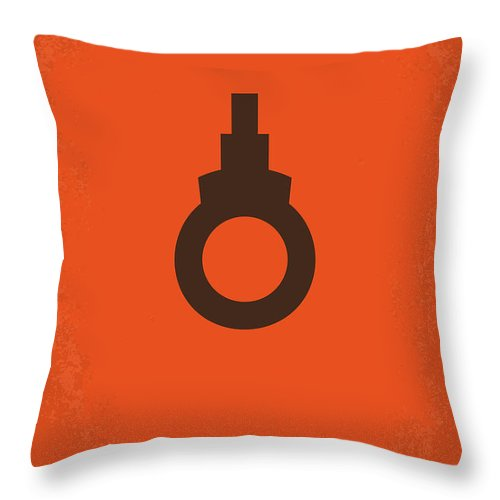 Dirty Throw Pillow featuring the digital art No105 My Dirty Harry Movie Poster by Chungkong Art