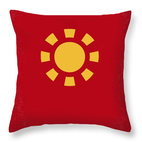 Iron Throw Pillow featuring the digital art No113 My Iron Man Minimal Movie Poster by Chungkong Art