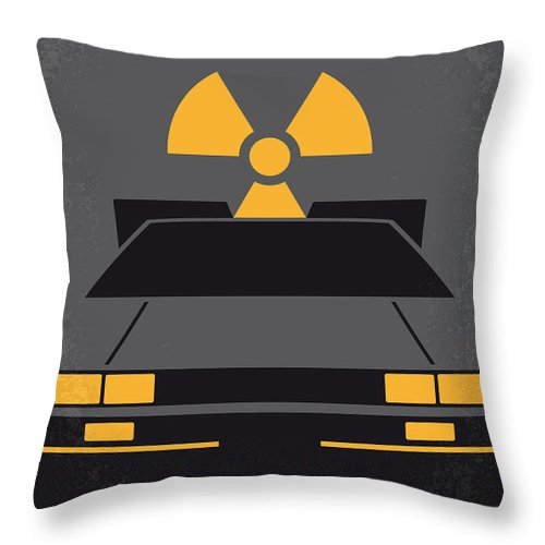 Back Throw Pillow featuring the digital art No183 My Back To The Future Minimal Movie Poster by Chungkong Art