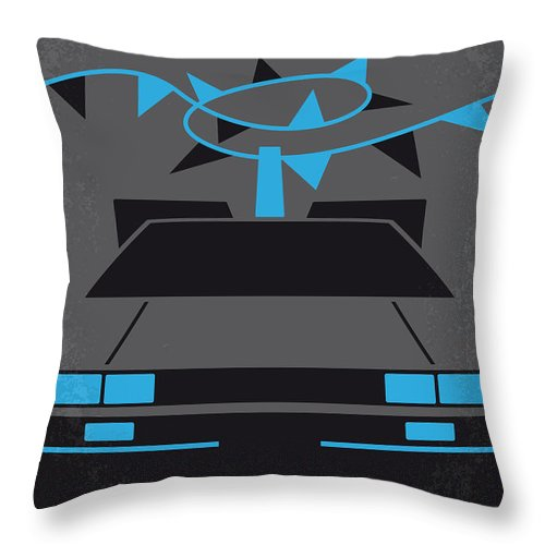 Back Throw Pillow featuring the digital art No183 My Back To The Future Minimal Movie Poster-part II by Chungkong Art