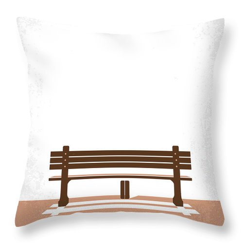 Forrest Throw Pillow featuring the digital art No193 My Forrest Gump minimal movie poster by Chungkong Art