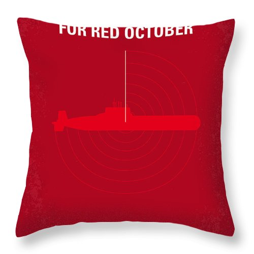 No198 My The Hunt For Red October Minimal Movie Poster Throw Pillow