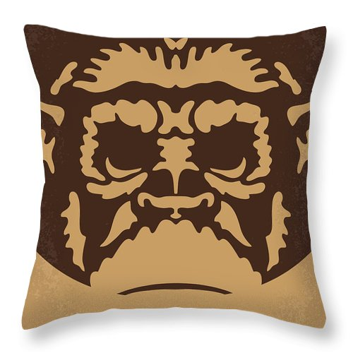 Planet Throw Pillow featuring the digital art No270 My Planet Of The Apes Minimal Movie Poster by Chungkong Art