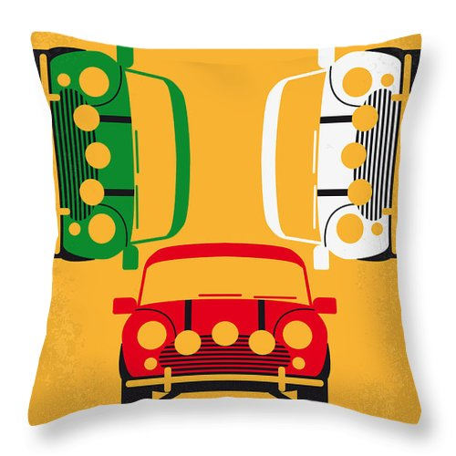 The Throw Pillow featuring the digital art No279 My The Italian Job Minimal Movie Poster by Chungkong Art
