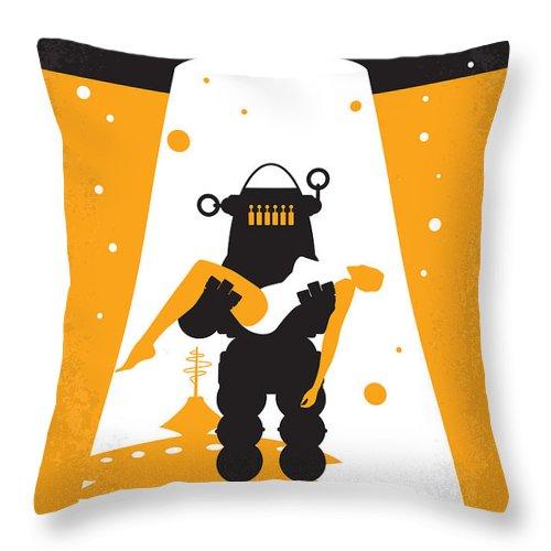 Forbidden Throw Pillow featuring the digital art No415 My Forbidden Planet Minimal Movie Poster by Chungkong Art
