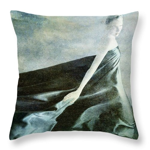 Blue Throw Pillow featuring the digital art Nobility by Julie m Rae