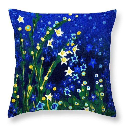 Nocturne Throw Pillow featuring the painting Nocturne by Holly Carmichael