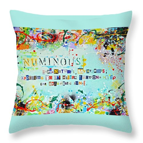 Numinous Throw Pillow featuring the painting Nominus by Devon Ingram
