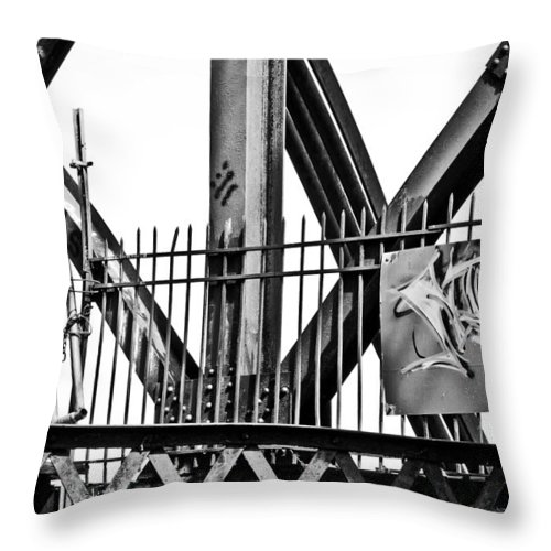 Blumwurks Throw Pillow featuring the photograph None Shall Pass by Matthew Blum