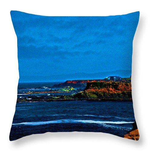 West Coast Beaches Throw Pillow featuring the photograph Nor Cal Seascape by Joseph Coulombe