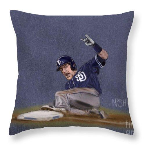 Chris Denorfia Throw Pillow featuring the digital art Norf Rocks by Jeremy Nash