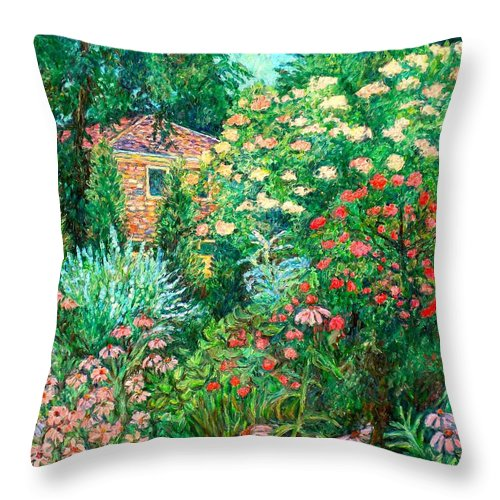 Garden Throw Pillow featuring the painting North Albemarle In Mclean Va by Kendall Kessler