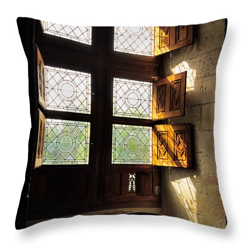 Loire Chateaux Throw Pillow featuring the photograph Northern Light by Nigel Fletcher-Jones