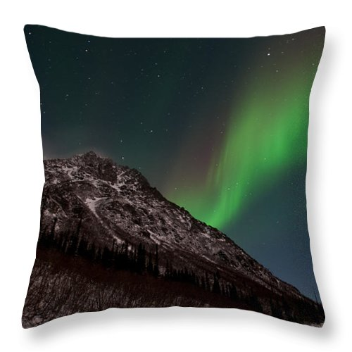 Aurora Borealis Throw Pillow featuring the photograph Northern Lights 1 by Clint Pickarsky