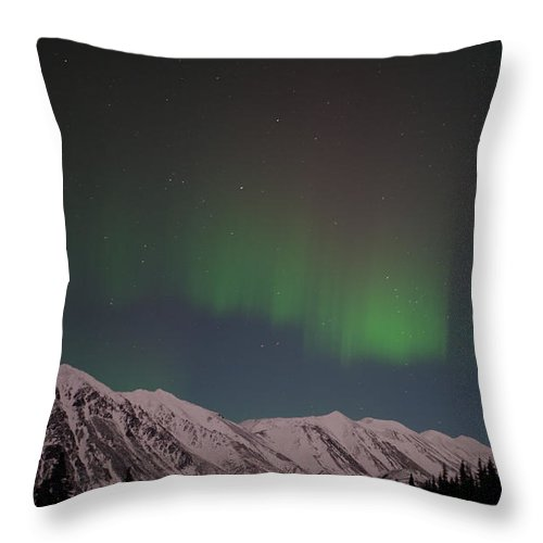 Northern Lights Throw Pillow featuring the photograph Northern Lights 2 by Clint Pickarsky
