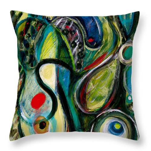 Abstract Art Throw Pillow featuring the painting Northern Lights 2 by Stephen Lucas