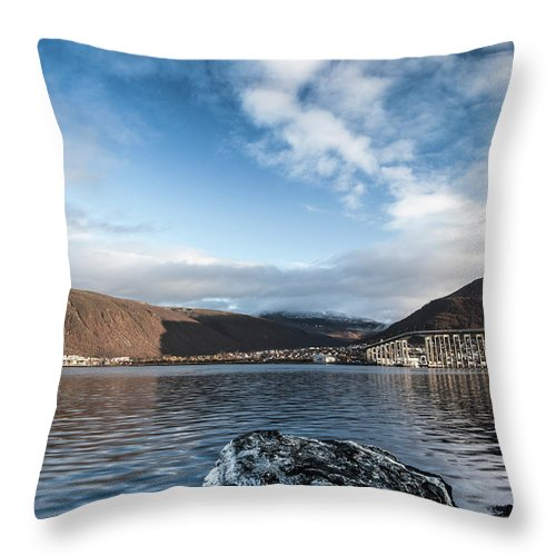 Tromso Throw Pillow featuring the photograph Norway Day Shot by Jordanwhipps1987