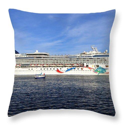 Norwegian Dawn Throw Pillow featuring the photograph Norwegian Dawn by David Lee Thompson