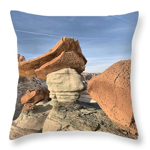 Stud Horse Point Throw Pillow featuring the photograph Nose To The Grindstone by Adam Jewell